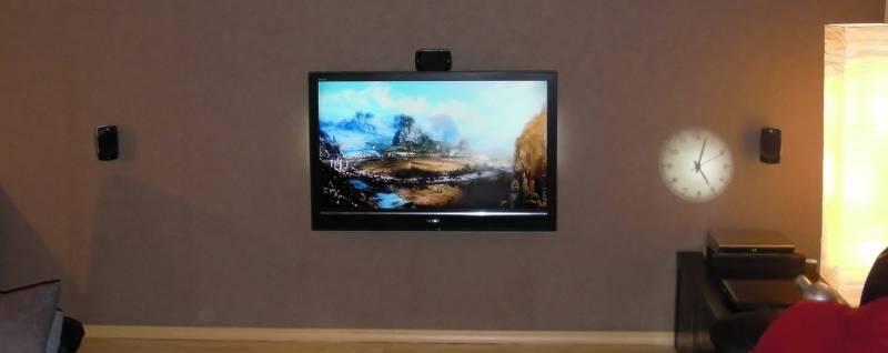 Elektro plus uit zoersel staat bekend om zijn esthetisch mooie bekabelingen elektro plus - Televisie suspendue mur ...